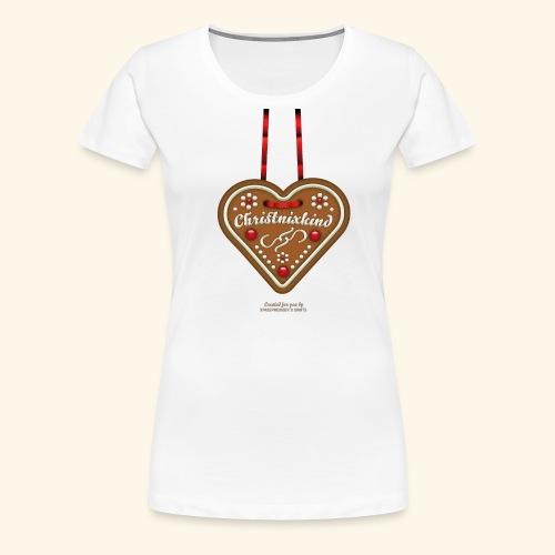 Weihnachts T Shirt Christnixkind Lebkuchenherz - Frauen Premium T-Shirt