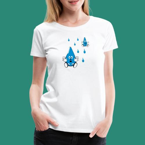 Tropfen - Frauen Premium T-Shirt