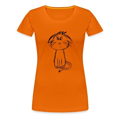 Kat kattunge sort scribblesirii - Dame premium T-shirt