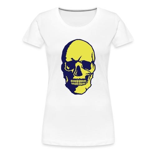 tete de mort crane halloween fantaisie 2 - T-shirt Premium Femme