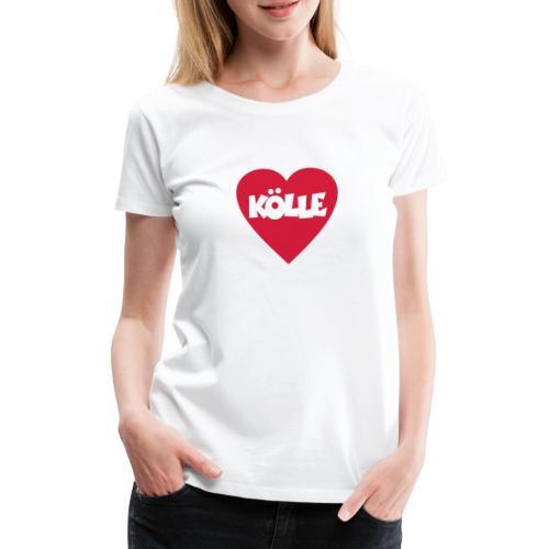 I Love Kölle - Ein Herz für Köln - Frauen Premium T-Shirt