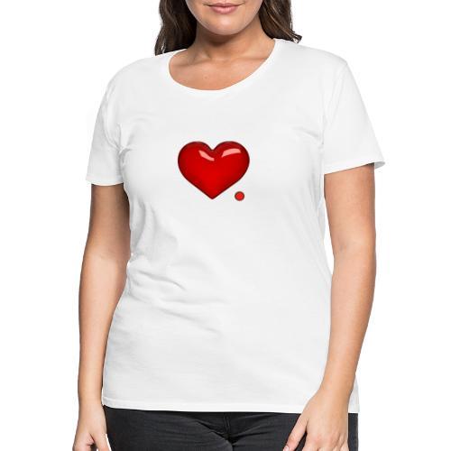 Amore e punto. Cuore. - Maglietta Premium da donna