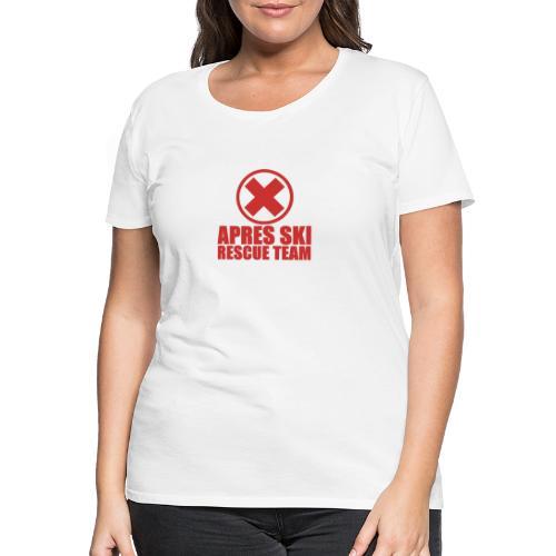 apres-ski rescue team - Vrouwen Premium T-shirt