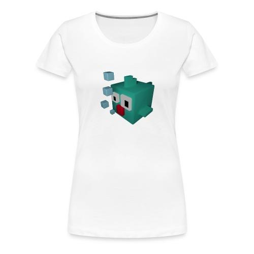Süsser kleiner Würfelfisch - Frauen Premium T-Shirt