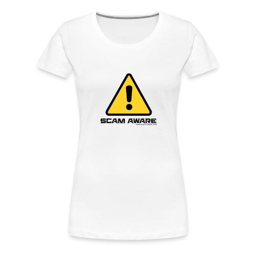 scam-aware.com's line of clothing - Women's Premium T-Shirt