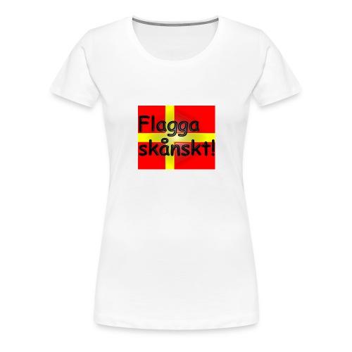Flagga skånskt! - Premium-T-shirt dam