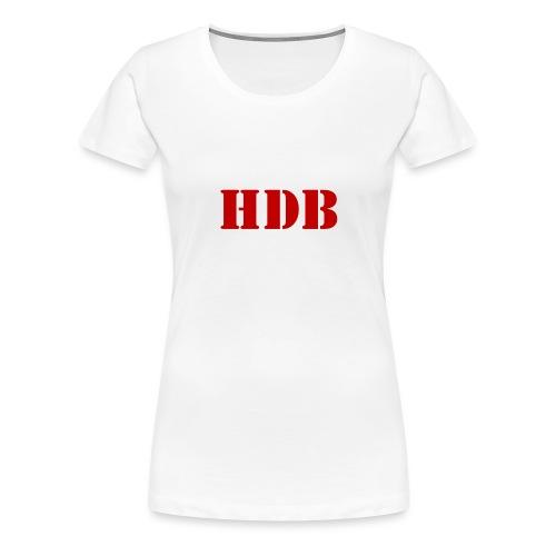 HDB Mok binnenkant rood - Vrouwen Premium T-shirt