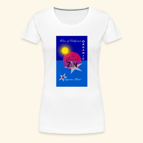 wine at playa summernight - Premium-T-shirt dam
