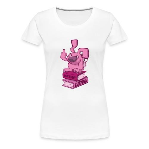 Schulhasshase - Frauen Premium T-Shirt