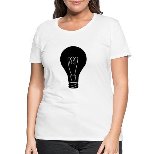 Glühbirne - Frauen Premium T-Shirt
