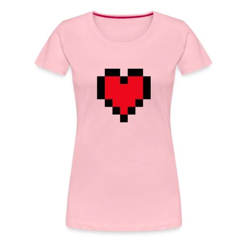 Pixel Heart - Vrouwen Premium T-shirt