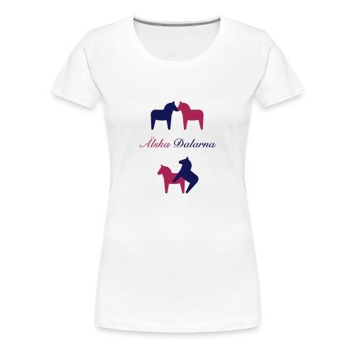 Dalahästar, älskande - Premium-T-shirt dam
