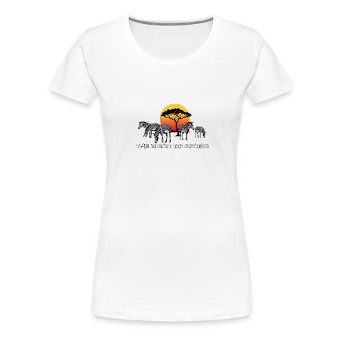 Spirit of Africa Zebra Afrika Sonne Savanne Safari - Women's Premium T-Shirt