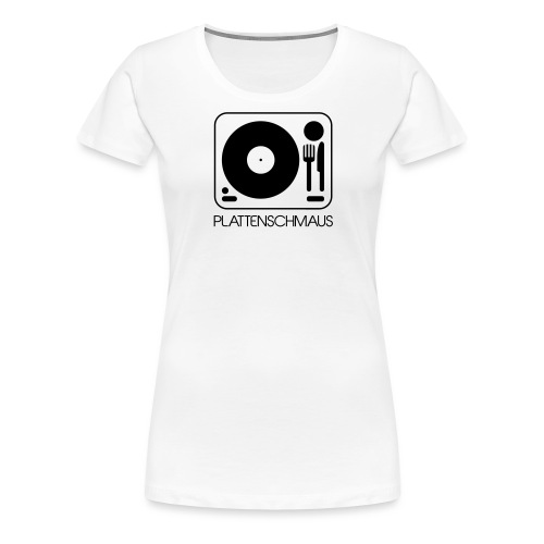 Plattenschmaus_Logo_ganz - Frauen Premium T-Shirt