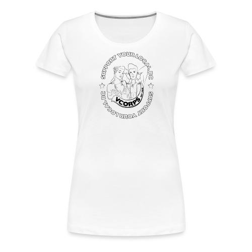 Support-LocalBC-White - Women's Premium T-Shirt