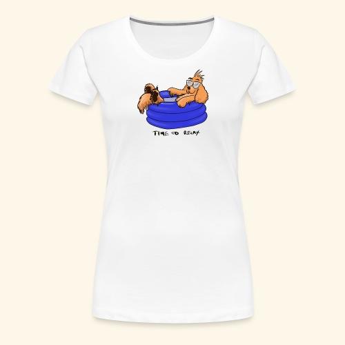 Bernie in the pool - Women's Premium T-Shirt
