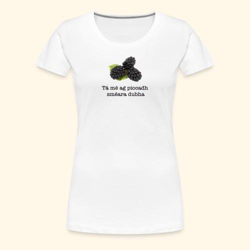 Picking blackberries - Women's Premium T-Shirt
