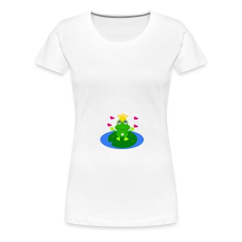 Froschkönig mit Händen - Frauen Premium T-Shirt