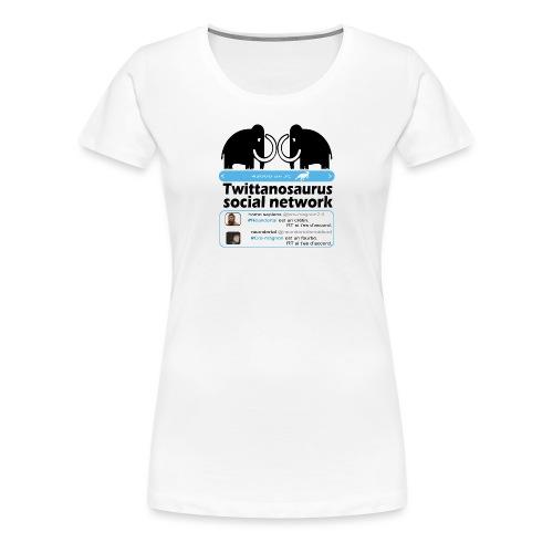 homo sapins versus neandertal - T-shirt Premium Femme