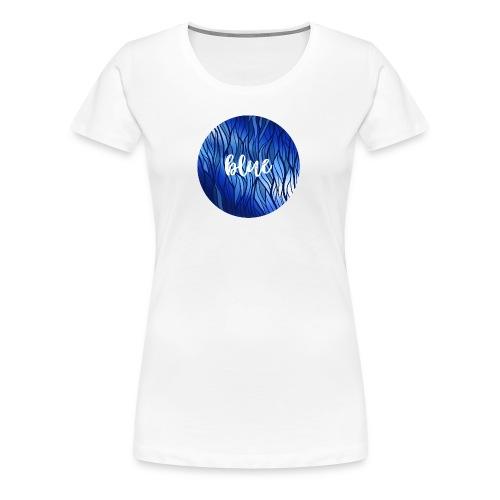 Blue Circle - Wasser Reflektion - Frauen Premium T-Shirt