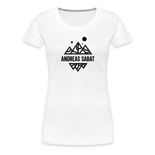 sabat logo black - Dame premium T-shirt