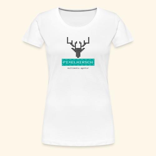 PIXELHIRSCH - Logo - Frauen Premium T-Shirt
