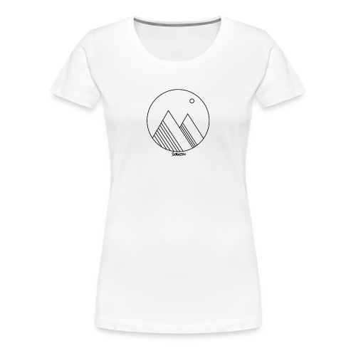 Mountains - Vrouwen Premium T-shirt