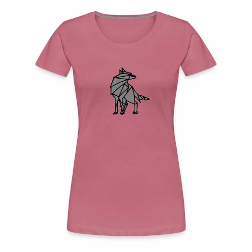 loup geometrique - T-shirt Premium Femme