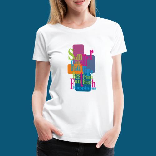 Summer Feeling.png - Frauen Premium T-Shirt