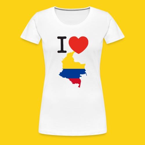 I love Colombia - Maglietta Premium da donna