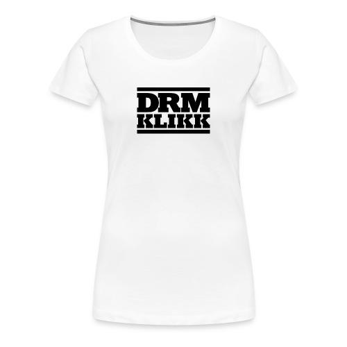 DRM KLIKK Logo Sort trykk - Premium T-skjorte for kvinner