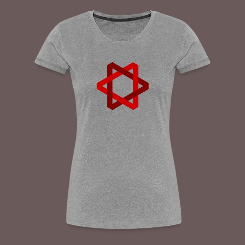 Two Triangles - Dame premium T-shirt