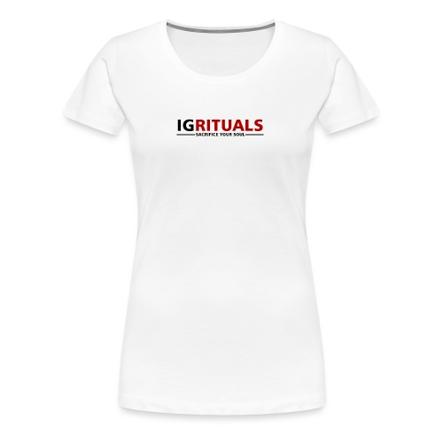 ig rituals text black and red - Women's Premium T-Shirt