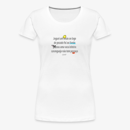 Versinho de infancia - Women's Premium T-Shirt