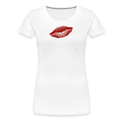 kissing red lips for everybody and everywhere :) - Frauen Premium T-Shirt