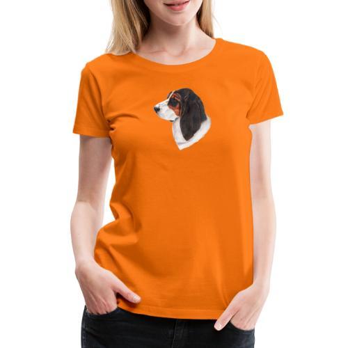 bassethound color - Dame premium T-shirt
