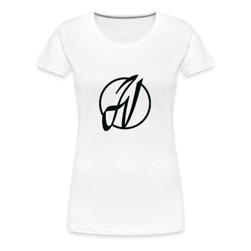JV Guitars - logo noir - T-shirt Premium Femme