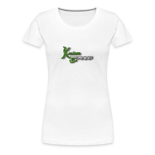 Kaslum Gaming Logo - Dame premium T-shirt