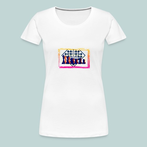 figurensatz_vor_brett - Frauen Premium T-Shirt