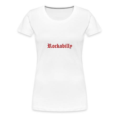 rockabilly red contour noir - T-shirt Premium Femme