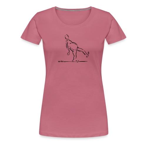 Lean Back Doodle - Women's Premium T-Shirt