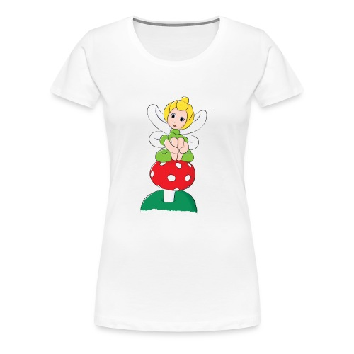 Balloon Fairy & Toadstool - Women's Premium T-Shirt