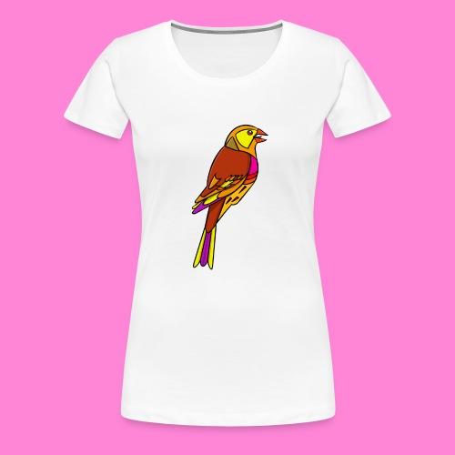 Geelgors illustratie - Vrouwen Premium T-shirt