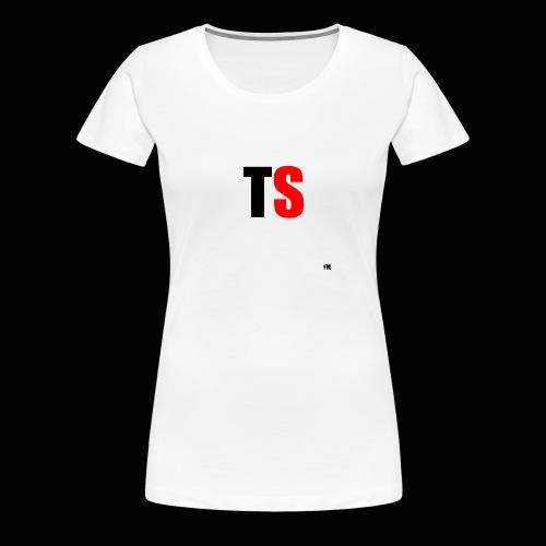 T-Shirt Vrouwen Zwart/Rood Logo - Vrouwen Premium T-shirt