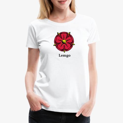 Lippische Rose mit Unterschrift Lemgo - Frauen Premium T-Shirt
