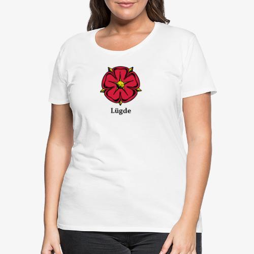 Lippische Rose mit Unterschrift Lügde - Frauen Premium T-Shirt