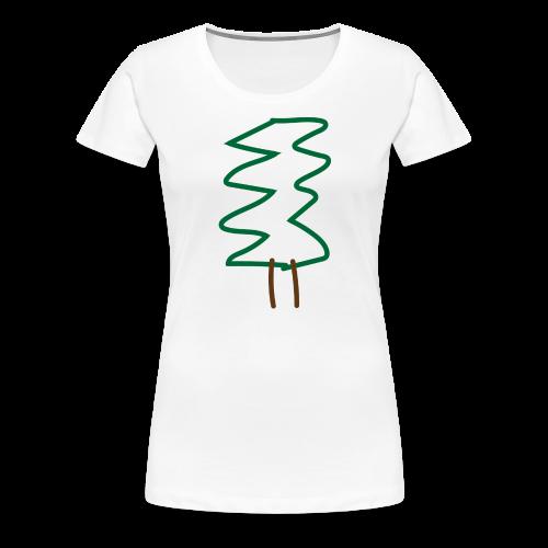 Weihnachtsbaum - Frauen Premium T-Shirt