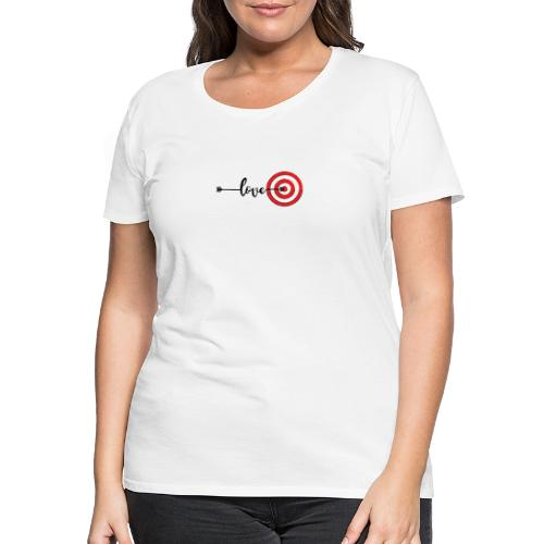 Dart Liebe - Mitten ins Board - Frauen Premium T-Shirt