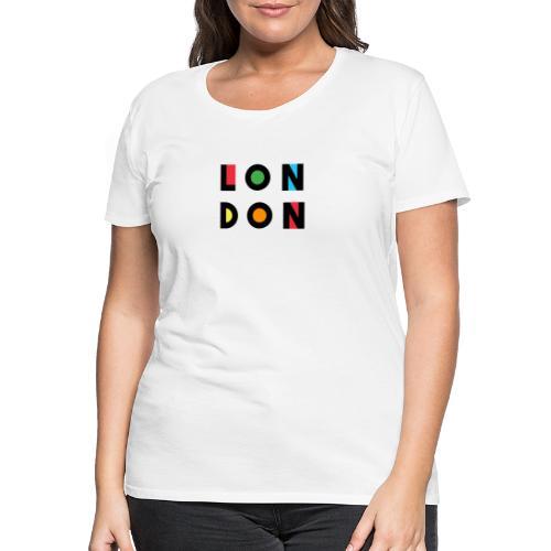 Vintage London Souvenir - Retro Modern Art London - Frauen Premium T-Shirt