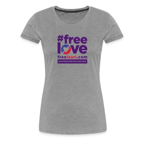 freelovewhite01 - Women's Premium T-Shirt
